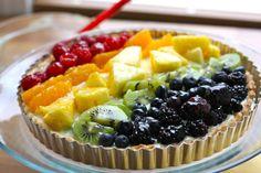"""Rainbow Fruit Tart - Colorful """"Rainbow"""" Food Recipe Ideas"""