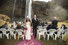 CLICK THIS PIN to see more Weddings photos from Seljalandsfoss Iceland. Wedding in Iceland, couples photos. Wedding Seljalandsfoss Iceland