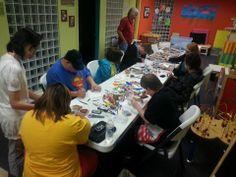 Art Smart Mixed Media night #SMILEonDownSyndrome #ArtSmart #CampIdeas #ClassIdeas www.smileondownsyndrome.org