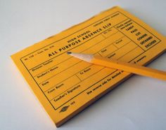 Vintage hall pass - don't let the hall monitor catch you without it!