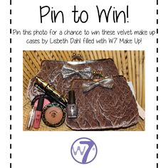 PIN TO WIN  Lovely Lisbeth Dahl Make up cases filled with W7!! Dahl, All That Glitters, Makeup Case, No One Loves Me, Tis The Season, Me As A Girlfriend, Make Up, Cheryl, Display Ideas