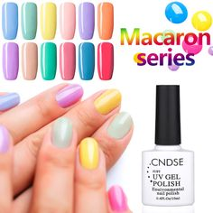 Nail Gel CNDSE Macaron Series Nail Polish Colorful Vernis Semi Permanent Gel Nail Polish DIY Nail Art -- View this nail art item in details now by clicking the VISIT button French Manicure Designs, New Nail Designs, Nail Designs Spring, Diy Nail Polish, Nail Art Diy, Diy Nails, Do It Yourself Nails, Natural Nail Art, Semi Permanente