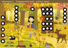 Interactieve praatplaat thema herfst voor kleuters, by juf Petra van kleuteridee. Met veel videos over de herfst