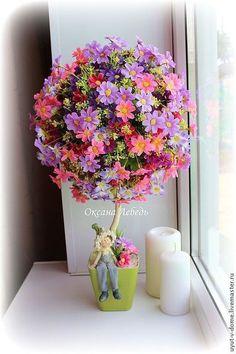 Купить или заказать Топиарий 'Полевой' в интернет-магазине на Ярмарке Мастеров. Полевые цветы, полевые цветы......Деревце из полевых цветочков всегда радует глаз!!! Отлично украсит веранду, балкон, кухню, детскую, или любую другую комнату. Отличный подарок! Возможны варианты расцветки, уточняйте пере…
