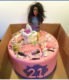 Cute 21st Birthday Cake For