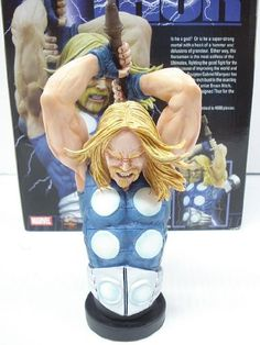 The Ultimates Thor Ultimate Bust Resin Statue Limited to 500 by Marvel. $179.99. Resin statue stands 8 1/2 inches tall. Special Edition. Enhanced Silver Paint. Glow in the Dark Highlights. The Ultimates Thor Ultimate Bust Resin Statue Limited to 500