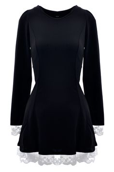 Elegant Round Neck Long Sleeve A-line #Dress - OASAP.com ★ FREE SHIPPING + 70% OFF for Thanksgiving Day!