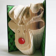 Rudolph Reindeer Book Folding Pattern: Plus by LoveBookFolding