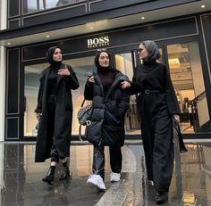 Pinterest @ZainabPatelOfficial Modest Fashion Hijab, Modern Hijab Fashion, Street Hijab Fashion, Casual Hijab Outfit, Hijab Fashion Inspiration, Muslim Fashion, Mode Inspiration, Modesty Fashion, Hijab A Enfiler