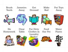 Free Printable Pictures Chores | Free Printable Chore Clip Art by mollie MY DESIGN: Freebies | Addy
