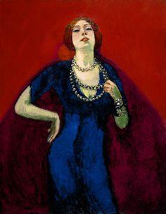 Kees Van Dongen - The blue dress . 1911
