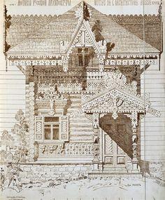 Prerevolutionary Architecture Byzantine Architecture, Wooden Architecture, Russian Architecture, Cultural Architecture, Victorian Architecture, Architecture Drawings, Classical Architecture, Historical Architecture, Architecture Details