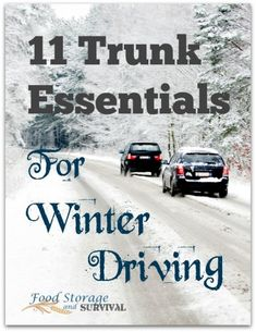 11 essential survival items to have in your trunk for winter driving! Getting my trunk stocked before my next trip!