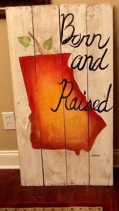 Georgia peach painted reclaimed wood by SoulSisterPalletShop, $50.00