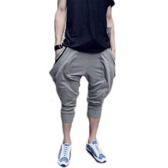 Magiftbox Men's Harem Baggy Training Pants-M-Grey Magiftbox