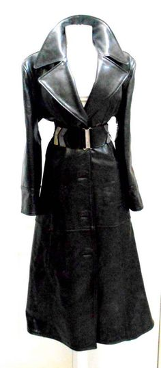 2dc0b970bc Gucci Tom Ford Era Heavy Black Leather Coat Italy #Gucci #BasicCoat Tom  Ford,