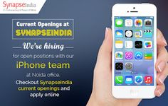 SynapseIndia Current Openings in Noida with smart salary packages: See SynapseIndia Current Openings for iPhone devel...