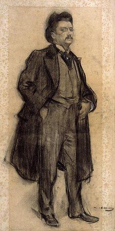 Portrait Of Celesti Sadurni  Ramon Casas