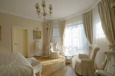 Soft Ivory coloured bedroom