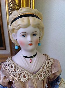 emma clear dolls | ... Reproduction-Antique-Emma-Clear-China-Parian-Lady-Doll-beautiful-dress