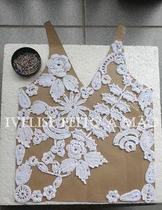 Ivelise Feito à Mão: Meus trabalhos: Regata em Crochê Irlandês: crochet Irish blog tutorial ...