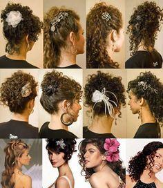 BELEZA EM AÇÃO: Penteados para cabelos cacheados
