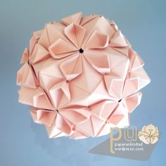 Kusadama Cherry Blossom Fold... wanted to make these for my flower girls but ran out of time....