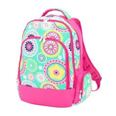 A pattern design with sweet young ladies in mind.  Fun, whimsical and ready for your favorite and unique monogram! The Piper Monogrammed Backpack is the perfect size for lots of notebooks, school books, and laptop for Back to School or will carry all of her necessities for trips to the beach, pool, sporting events and more!