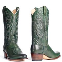 Sendra Westernboots 13549 Mosgroen Green Ankle Boots, Green Shoes, Western Boots, Cowboy Boots, Tall Boots, Shoe Boots, Take That, Footwear, Style Inspiration