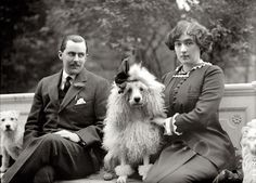 In 1912, a proper lady was always accompanied by at least 2 dogs whenever she went for a stroll in the park. Much to the chagrin of eligible suitors, the poodles were trained to attack if he quoted from the illustrated book on pitching woo…