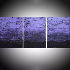 "large triptych 3 panel wall art impasto textured "" Purple Persausion "" 3 part piece three panel canvas wall abstract canvas pop abstraction 48 x 20 "" other sizes too Acrylic painting by Stuart Wright Three Canvas Painting, 3 Piece Canvas Art, Easy Canvas Art, Abstract Canvas, Canvas Wall Art, 3 Panel Wall Art, Tree Of Life Art, Square Canvas, Extra Large Wall Art"