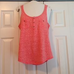 Express heather red tank Comfortable cotton Express Tops Tank Tops