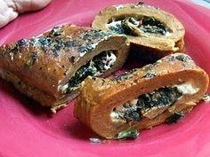 Spinach Stuffed Seitan Roast
