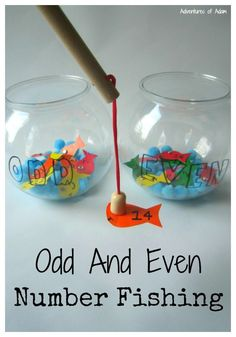 Odd And Even Number Fishing. A simple activity to set up to teach your child about odd and even numbers.