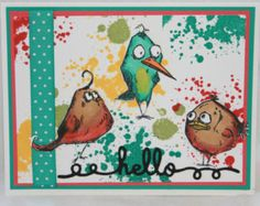 Original Bird Crazy Note Cards Set of 3 by ScrappingStuff on Etsy