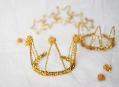 DIY Sparkle Party Crowns