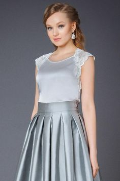 Л-1071-1111 Блуза Стильная Стильная Замечательная блузка лаконичного дизайна   Женские блузки, рубашки с коротким рукавом