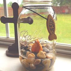 Growing Tulips in a mason jar!
