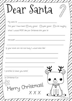 Santa letter free cute template to write a letter to santa free santa letter free cute template to write a letter to santa free printable santa letters santa letter template and children writing spiritdancerdesigns Image collections