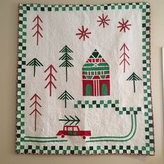 Modern Christmas quilt by Beth Shibley | Love Laugh Quilt