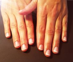 French Polish on natural nails
