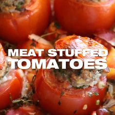 Beef Tomato Recipe, Baked Tomato Recipes, Fresh Tomato Recipes, Pork Recipes, Vegetable Recipes, Cooking Recipes, Stuffed Tomato Recipes, Chicken Recipes, Easy Healthy Dinners