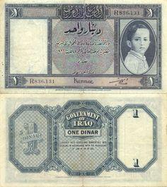 Iraq  1 Dinar L.1931 (King Faisal II as a child)