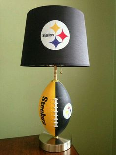 Pittsburgh Steelers football Lamp by thatlampguyGraz on Etsy Steelers Gifts, Steelers Gear, Here We Go Steelers, Pittsburgh Steelers Football, Pittsburgh Sports, Steelers Stuff, Football Team, Steel Curtain, Steeler Nation