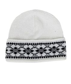 1b9836b063b Icelandic Patterned Wool Hat White - Wool Accessories - Nordic Store  Icelandic Wool Sweaters Wool