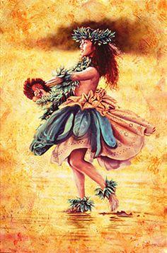 Island Dance by Steve Sundram Hawaiian People, Hawaiian Dancers, Hawaiian Art, Polynesian Cultural Center, Polynesian Art, Hawaiian Legends, Hawaii Hula, Tiki Art, Hula Dancers