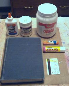 How different adhesives work when making an altered book.
