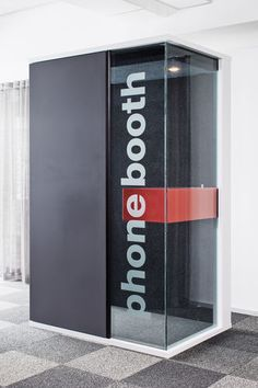 Hush phone booth office furniture martela 商 业 中 心 in 2019 telephone booth, Open Office Design, Office Interior Design, Corporate Interiors, Office Interiors, Office Signs, Office Decor, Telephone Booth, Co Working, Booth Design