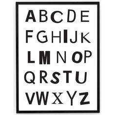 #Poster - #Alphabet - #CarlijnQ - #blackandwhite #kidsroom - #monochroom #illustration - #littlethingz2