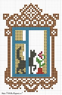 My tvorilki: Window waiting cat. And geranium.